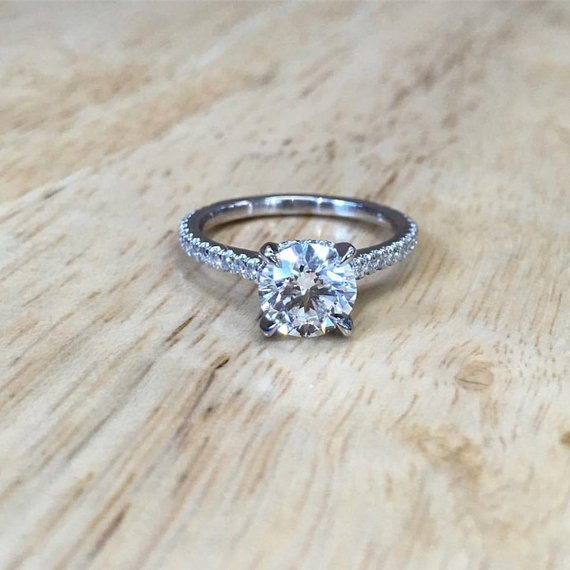 Custom engagement ring
